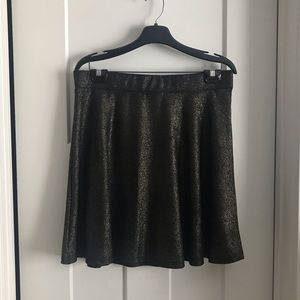Sparkly black and gold skirt
